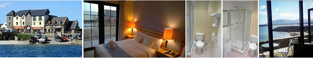 Pier Head Hotel, bedroom, bathroom and view