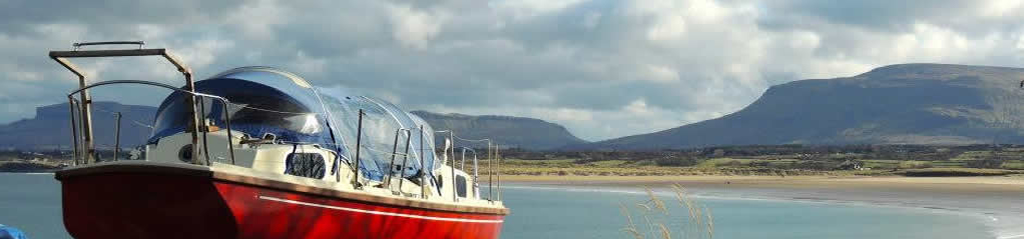 Boat with Mullaghmore in background