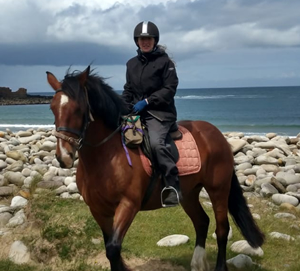 Margo from Island View Riding Stables on horse