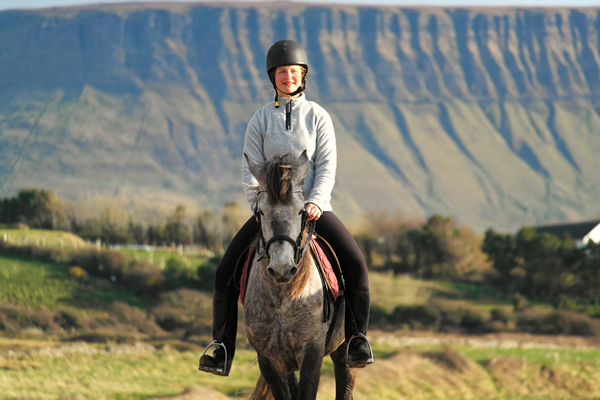 Riding with Benbulben behind